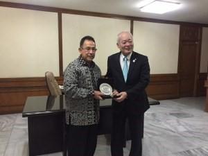 With President Ir Muhammad Anis at Indonesia University
