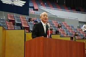Congratulatory remarks by the OCU Alumni<br />Association Chaiman Takao Kodama