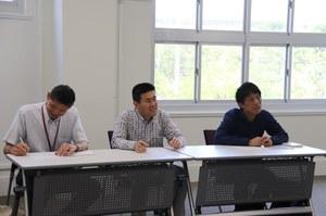 From left:<br />Professor Nakase,  Associate Professor Bu,<br />Lecturer Oyama