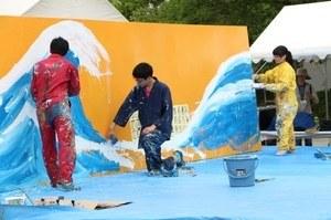 Art performance by the OCU art club Seitokai