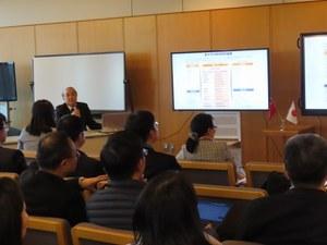 Presentation by Mr. Shimizu, Manager, Global Exchange Office, OCU