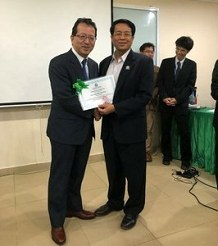 Associate Professor Junji Uchida<br />inaugurated as a guest professor<br />at School of Medicine,<br />International University