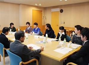 グローバル志向の学生との懇談会
