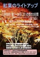 理学部附属植物園 「紅葉のライトアップ」(11月21日~23日)