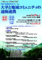 大阪市立大学COCフォーラム 「大学と地域コミュニティの遠隔連携」