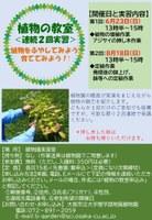 理学部附属植物園 植物園の職員がノウハウを教えます ~植物をふやしてみよう!育ててみよう!~「植物の教室」を開催