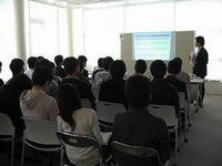 学内企業セミナー開催中