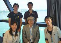 2008年ノーベル賞受賞者・下村 脩博士と中根博士研究員(右下