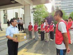 第2次東日本大震災復興支援学生ボランティア派遣 出発式を行いました