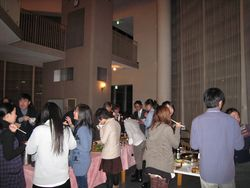 日本人学生との交流会の様子