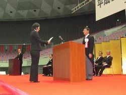 学部代表 奥菜津未さん(理学部)