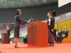 大学院代表 上田知美さん(創造都市研究科)