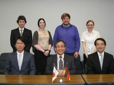 ハンブルク大学交換留学生が宮野副学長を表敬訪問