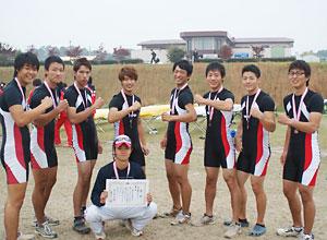 関西学生秋季選手権大会男子エイトで4年ぶりにメダル獲得!