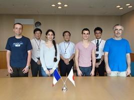 フランス ル・アーブル大学交換留学生が宮野副学長を表敬訪問