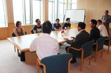 フランス ル・アーブル大学交換留学生が宮野副学長を表敬訪問しました