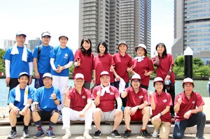 左より府大チーム、市大チーム、教育後援会チーム