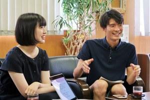 大槻慶子さん(左)と渡邊壮一郎さん(右)
