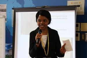留学生代表 アシュリー・ペンシルさん