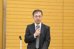 重松孝昌学生担当部長からの閉式のあいさつ