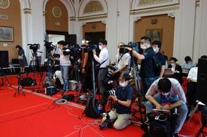 多くの報道関係者にお越しいただきました