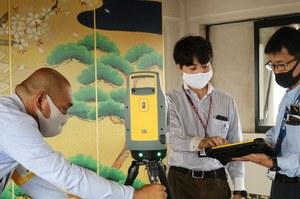 地上型レーザースキャナで岸和田城内部を計測