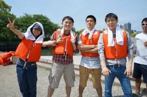 中国人留学生学友会ボート際写真4