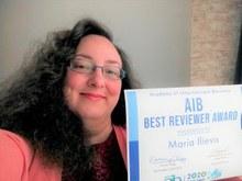 Maria Ilieva特任讲师(经营学研究生院)获得国际商务学会最佳编审奖!